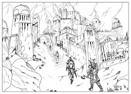eldre scrolls by valentin valentin coloring pages for adults