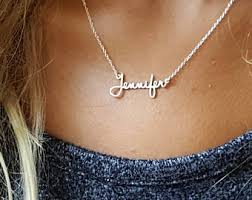 small name necklace small name necklace etsy