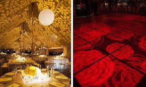 theme lighting gobo lighting ideas for wedding themes projected image