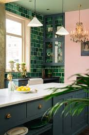 green tile backsplash kitchen green tile backsplash greige design