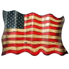 American Flag Specs Americana Antique Style American Flag Metal Wall Decor Free