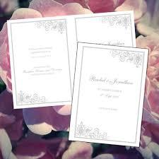 easy wedding programs 37 best diy wedding programs images on diy wedding