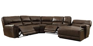 Reclining Sofas Leather Homelegance 6 Bonded Leather Sectional Reclining