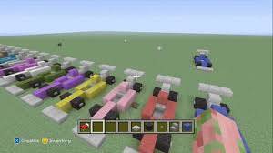 minecraft car pe minecraft how to make an formula 1 race car youtube