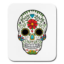 crmn sugar skull day of the dead 8 mouse pad vertical