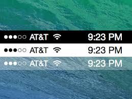 Iphone 5 Top Bar Icons Apple Ios 7 Status Bars Sketch Freebie Download Free Resource