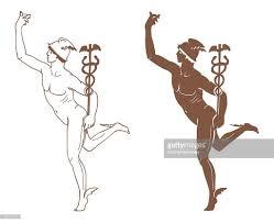 digital illustration of hermes messenger of the gods in greek