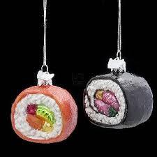 noble gems glass sushi ornament set of 2 walmart