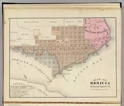 Solano County Map Benicia David Rumsey Historical Map Collection