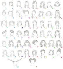 drawing of bob hair 50 female anime hairstyles by anaiskalinin on deviantart