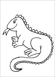 iguana coloring animals town