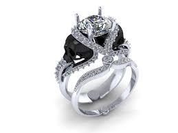 skull engagement rings skull engagement ring 18 k with genuine diamond center 1 carat