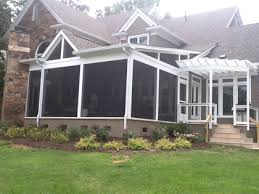 Screened In Pergola by Archadeck Of Charlotte Decks Screen Porches Sun Rooms