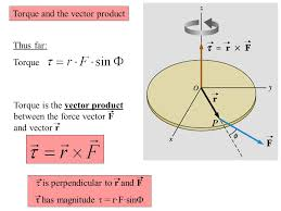 vector or cross product torque angular momentum angular momentum