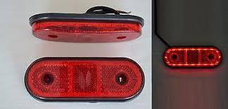 led clearance lights motorhomes 2 x 24v 2smd led red rear outline marker lights cer caravan bus