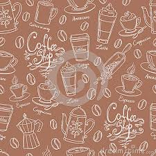coffee shop background design shop design seamless background stylized coffee pattern