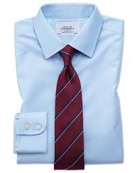 slim fit non iron twill sky blue shirt charles tyrwhitt