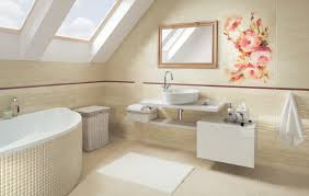 White And Beige Bathrooms Coraline Coral Bathroom Tiles U2013 White And Beige U2013 Resembling Marble