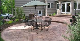 Concrete Backyard Ideas Concrete Awesome Patio Furniture Sets As Concrete Patio Design