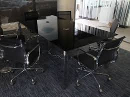 Glass Boardroom Tables Latest Black Boardroom Table Black Glass Meeting Table Solutions 4