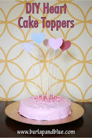 heart cake topper diy crafts