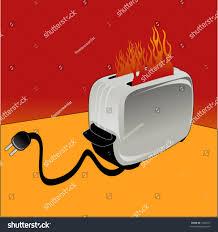 Maple Leafs Toaster Toaster On Fire Stock Vector 1602347 Shutterstock