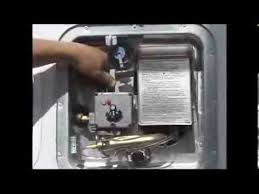 water heater not lighting 4 how to light a rv water heater pilot youtube