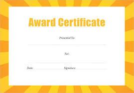 eye catching yellow orange background of blank editable award
