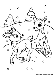 coloring reindeer color rudolph family coloring source