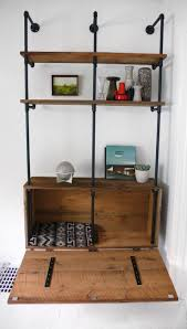 1471 best diy plumbing pipe scaffolding tubes in home decor reclaimed wood pipe shelving unit mid century by hindsvik 899 00 usd via etsy