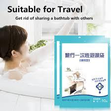 travel bathtub baby disposable travel bath plastic bag large size thicker baby