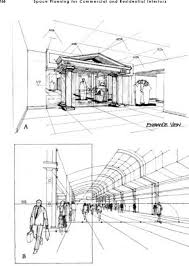 perspective drawing interior design northern architecture