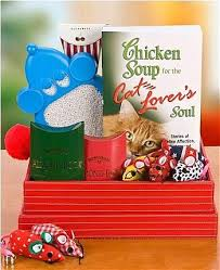 Pet Gift Baskets Chicken Soup For The Cat Lover U0027s Soul Gift Basket Pet Gift