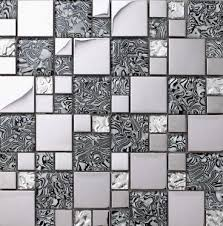 Gold Items Crystal Glass Mosaic Tile Wall Backsplashes by Glass Mosaic Kitchen Backsplash Tile Stainless Steel Mosaic