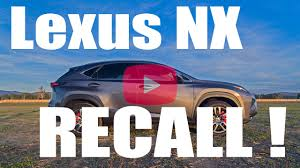 lexus recall letter nx recall special service campaign lexus nx300h lexus nx