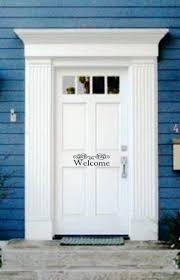 front door house front doors retro welcome decal for front door for house vinyl