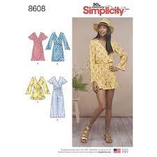 jumpsuit stitching pattern pattern 8608 misses jumpsuit and dress