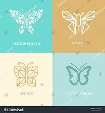 vector set abstract logo design templates stock vector 417524851