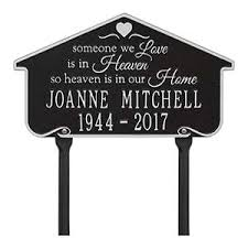outdoor memorial plaques outdoor memorial plaques heavenly home sympathy gifts