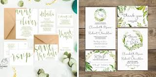 wedding invitations greenery pantone greenery wedding invitations from etsy southbound