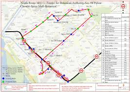 Gardens Mall Map Route Chart Of City Bus Noida Metro Rail Corporation Ltd