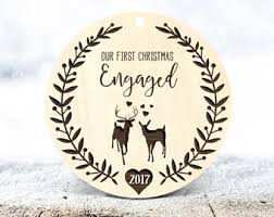 engaged ornament etsy