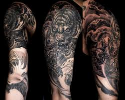 collection of 25 half sleeve tiger