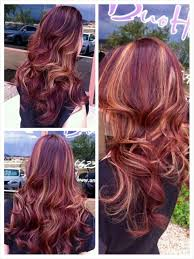 mahogany red hair with high lights red hair with blonde peekaboo highlights hair beauty that i