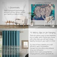 5 ways to nail bohemian decor without having it look clich boho elephant tapestry ganesh elephant wall hanging indie shabby