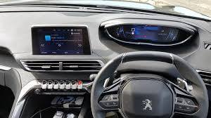 peugeot 3008 interior peugeot 3008 suv gt line blue hdi 120 eat6 see the lights