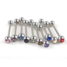 ear clasp 2018 stainless steel cartilage tragus barbell tongue ring piercing