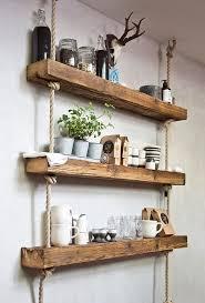 rustic wall shelves shelves ideas