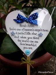 personalised child memorial baby grave ornament water