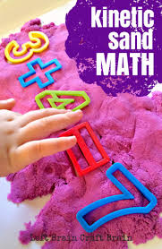kinetic sand math left brain craft brain